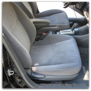 cleaning car upholstery seat