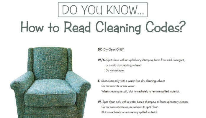 How you can read upholstery cleaning codes