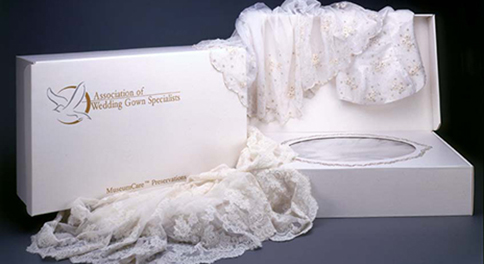 Wedding gown upkeep and cleaning